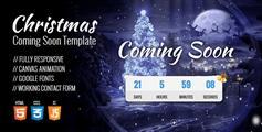 响应式HTML5圣诞节即将到来模板带音乐HTML5圣诞网站模板