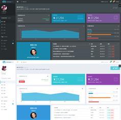 AmazeUI框架开的黑白两种主题后台管理模板