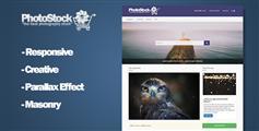 响应式图片素材售卖网站HTML模板_摄影作品图片销售HTML5框架 - PhotoStock