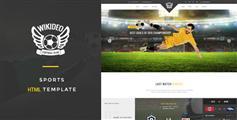带电商设计足球体育类网站HTML模板_Bootstrap体育网站HTML - Wikideo