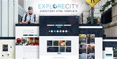 Bootstrap分类信息网站HTML5模板响应式信息发布HTML模板 - Explore City