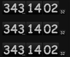 3种jQuery翻拍样式倒计时插件HTML5倒计时特效代码
