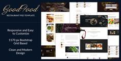 Good Food - 咖啡馆酒吧和餐馆HTML模板Bootstrap餐厅网站HTML5模板