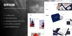 Opium有创意的HTML5响应模板手机端适合设计师网站摄影工作室HTMl5模板