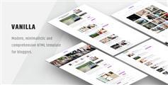 响应设计博客html网页模板适应手机网站 - Vanilla