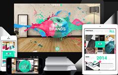 漂亮大气html5模板适用任何类型网站_无限配置颜色风格  - Splashes