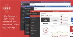 WEB APP & 管理系统框架_扁平后台模板 - FLAT PLUS