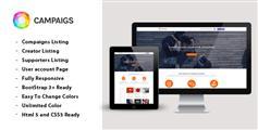 响应众筹网站模板 Bootstrap融资平台html源码 | Campaigns