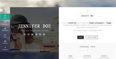 漂亮大气的响应个人网站博客名片模板 自适用手机网站 - TRIA