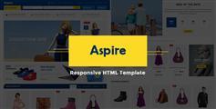 响应式电商模板_蓝色网上商城html模板_手机电商 - Aspire