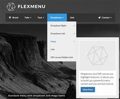 jQuery导航菜单插件包带动画效果多级下拉和侧边栏菜单 - FlexMenu
