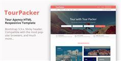 旅行社HTML模板 响应旅游景点在线订购网站- Tour Packer
