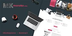h5响应Bootstrap网站模板_适用移动设备 - Moroko