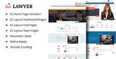 响应式律师html模板_ Bootstrap3律师网站模板- Lawyer