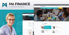 会计事务所 金融 证券 保险公司html模板 - Me Finance
