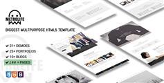 HTML5企业网站模板_Bootstrap博客杂志电商医疗建筑等100+页面 - Metrolife