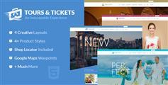 4套旅游网站html模板_bootstrap在线订票旅游模板_视差效果旅游网站