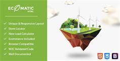 外国可再生能源企业电气电力公司网站html模板 - Ecomatic