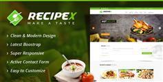 食谱菜谱网站html模板_Bootstrap美食菜谱教程网站模板 - Recipex