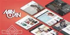 6个主页时尚电商Bootstrap模板_外国商城网站html源码 - Minoan
