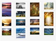 jquery瀑布流网页布局插件_图片带阴影效果的瀑布流效果代码