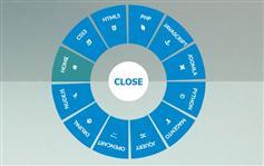 响应css3圆形导航菜单带图标_很有吸引力的点击按钮展开圆形菜单效果