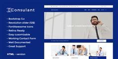 蓝色宽屏企业网站html模板_大气响应企业HTML5模板 - Consulant