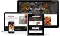 面包店餐饮行业网站html_ Bootstrap框架html5咖啡店网站模板- Butter