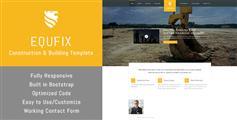 建筑业HTML网站模板_大气黄颜色html5企业网站框架 - Equfix
