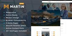 響應式HTML5企業網站模板_5種風格首頁公司網站html模板 - Martin