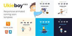 响应动画网站即将上线Coming Soon模板_单页卡通网页源码 - UkieBoy