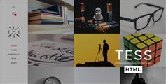 响应图片展示类html模板_带博客电商Bootstrapv3创意模板 - TESS
