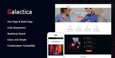 HTML5企业官网模板_大气宽屏自适应公司网站html模板 - Galactica