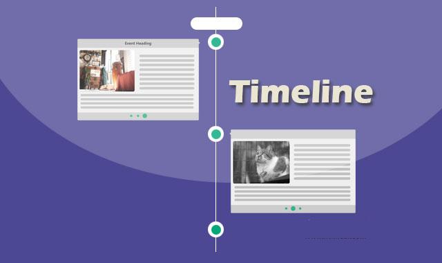 jquery纵向时间轴插件_bootstrap响应两侧时间轴特效代码timeline
