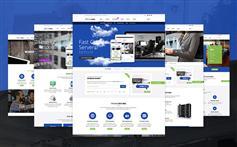 响应虚拟主机域名IDC网站html模板_Bootstrap服务器商html5模板 - HostHubs