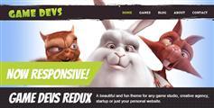 很有趣的网站html模板_卡通风格游戏工作室网站模板 - Game Devs
