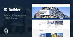 Bootstrap建筑行业html模板_建筑服务公司html5网站模板 - Builder