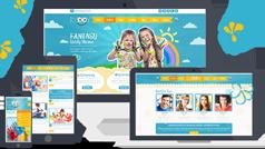 超级漂亮的幼儿园早教机构html模板_样式多变的儿童网站模板 - Kiddy