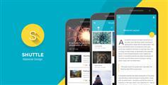 比app還要漂亮的html5手機網站模板Web應用程序 - Shuttle