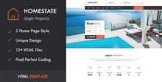 房地产房产中介html模板_bootstrap房产网站模板 - HOME STATE