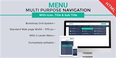 响应Bootstrap两级下拉导航菜单_html5商城超级导航大菜单插件