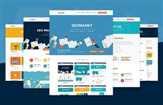 响应式SEO营销公司网站模板_Bootstrap搜索引擎优化网站UI模板 - SEOMarkt