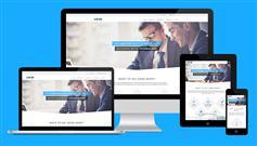 大气蓝色风格html企业官网模板_响应Booststrap企业模板框架 - Liven