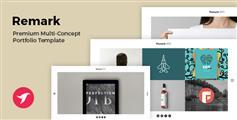 Bootstrap创意组合模板_html5作品展示网页UI框架 - REMARK