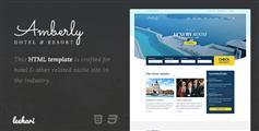 酒店预订HTML模板_bootstrap酒店预订UI框架 - Amberley
