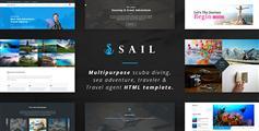 多功能HTML模板|海洋探险|旅行社|冲浪|旅行网站Bootstrap模板- Sail