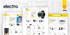电子产品html商城模板_Bootstrap漂亮大气电商模板html - Electro