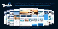 网上订机票船票html模板_Bootstrap机票预订网站模板 - Yacht Sailing