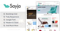 响应式沙发家具商城html模板_bootstrap家具电商模板框架 - Sayia