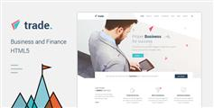響應金融HTML5模板_Bootstrap投資理財公司官網html模板 - Trade